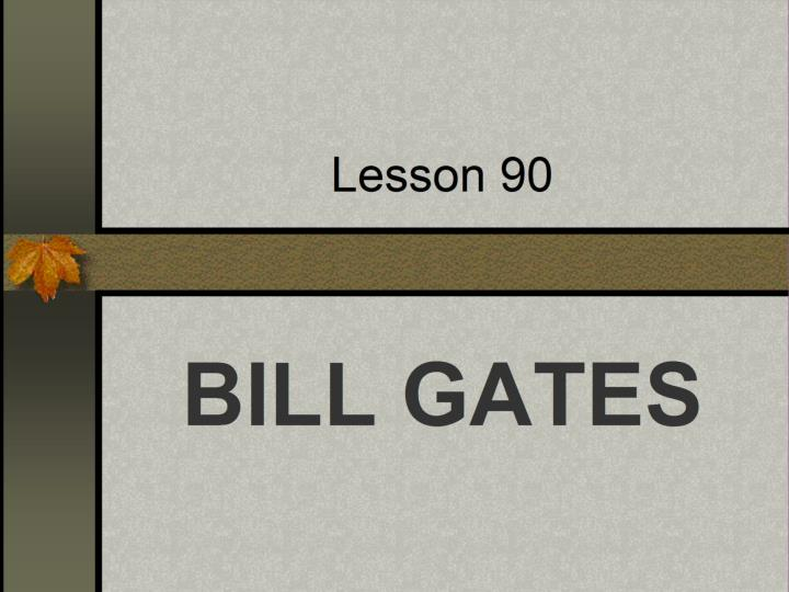 lesson 90 n.