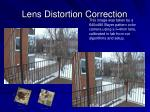 lens distortion correction