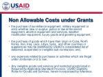 non allowable costs under grants1