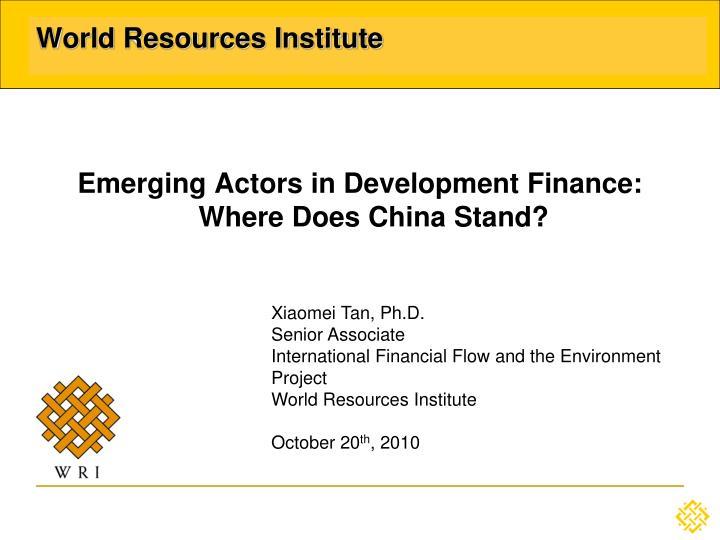 world resources institute n.