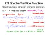 2 3 spectra partition function