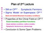 plan of 2 nd lecture