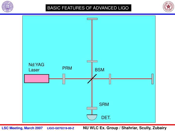 BASIC FEATURES OF ADVANCED LIGO