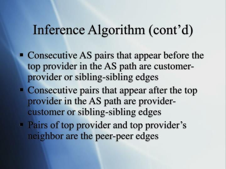 Inference Algorithm (cont'd)