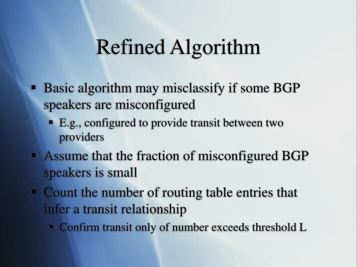 Refined Algorithm