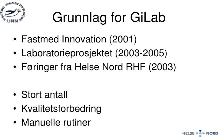 Grunnlag for GiLab