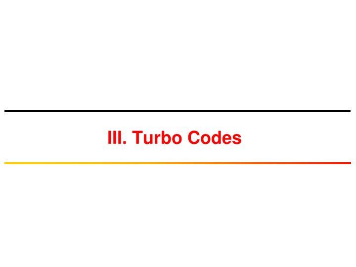 iii turbo codes n.