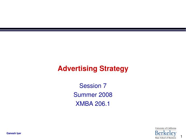 Advertising strategy