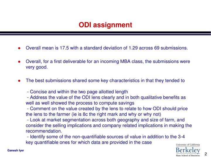 Odi assignment