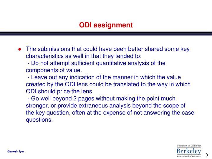 Odi assignment1