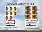 temporal pattern of olf