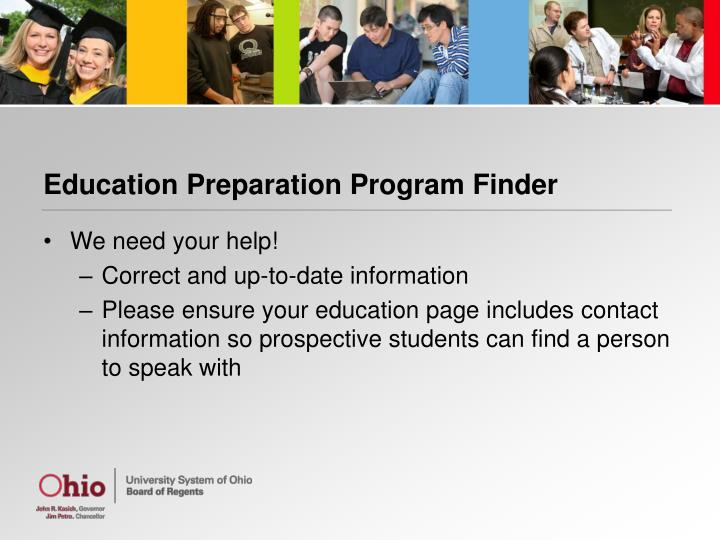 Education Preparation Program Finder