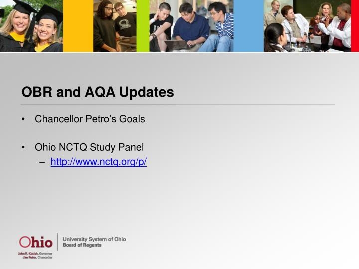 Obr and aqa updates