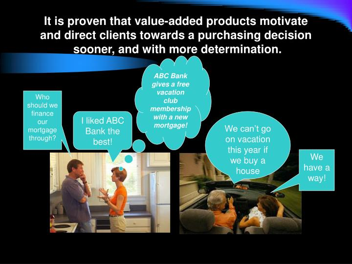It is proven that value-added products motivate