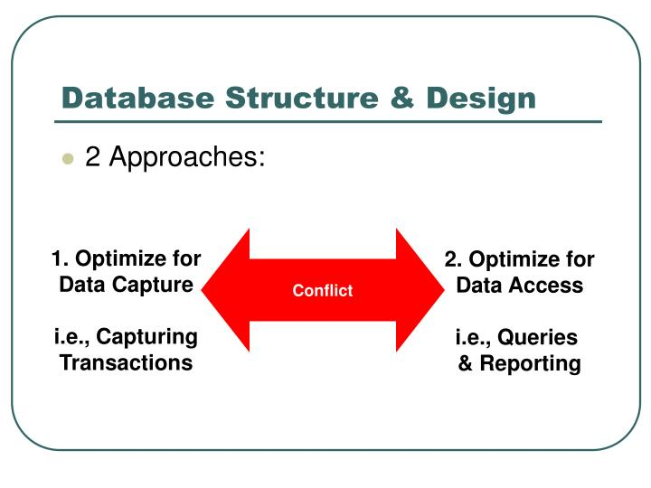 Database Structure & Design