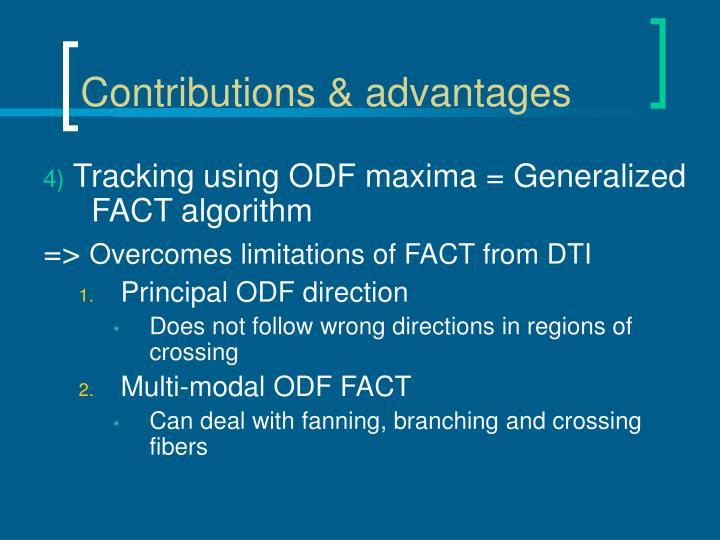 Contributions & advantages