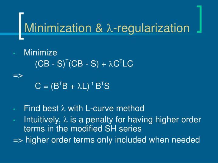 Minimization &