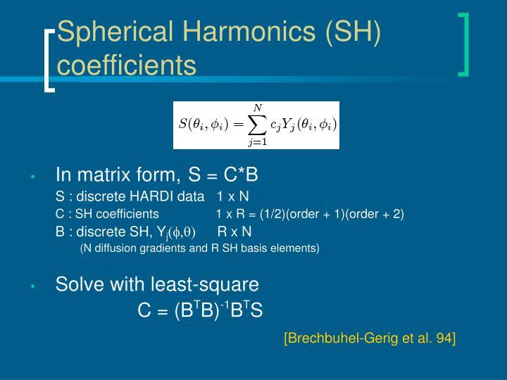 Spherical Harmonics (SH) coefficients