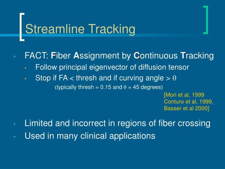 Streamline Tracking