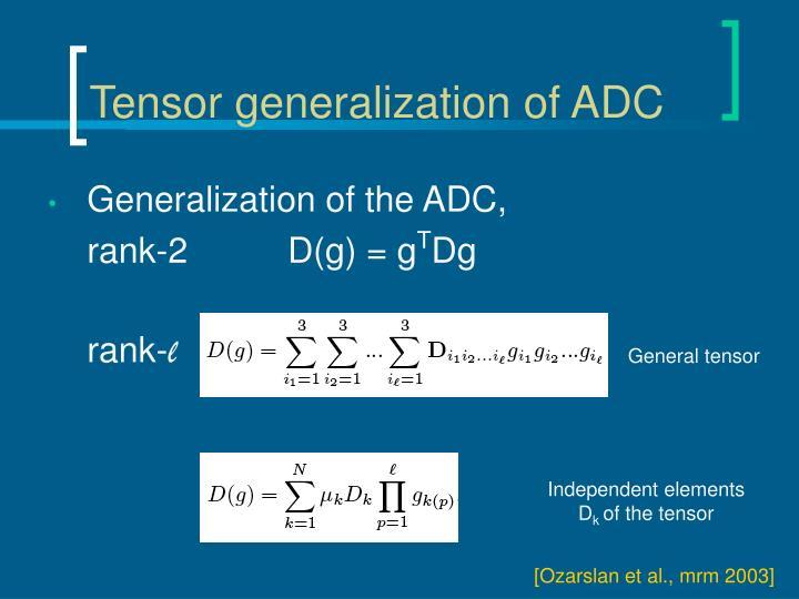 Tensor generalization of ADC