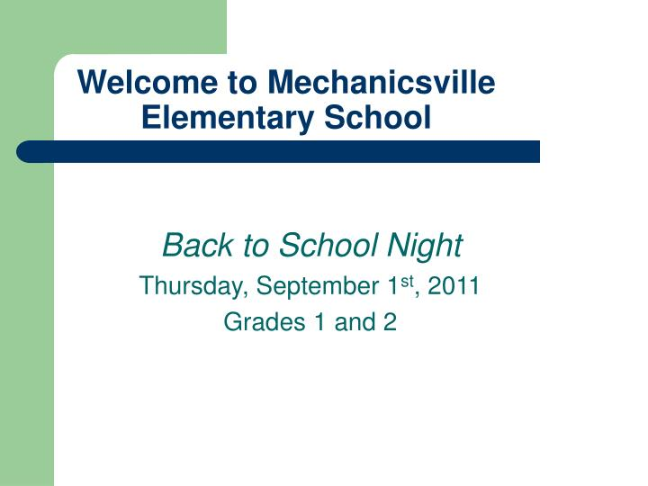 Welcome to mechanicsville elementary school