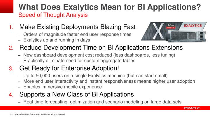 What Does Exalytics Mean for BI Applications?