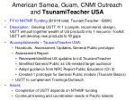 american samoa guam cnmi outreach and tsunamiteacher usa