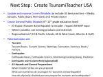 next step create tsunamiteacher usa