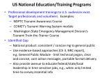 us national education training programs