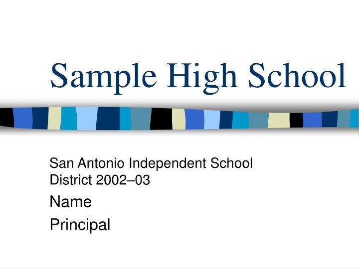 sample high school n.