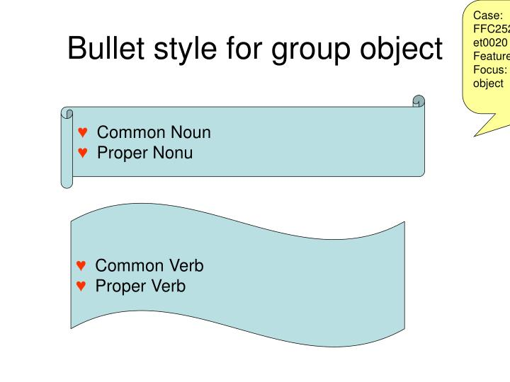 Case: FFC252FFCSD_GroupObject_Bullet0020