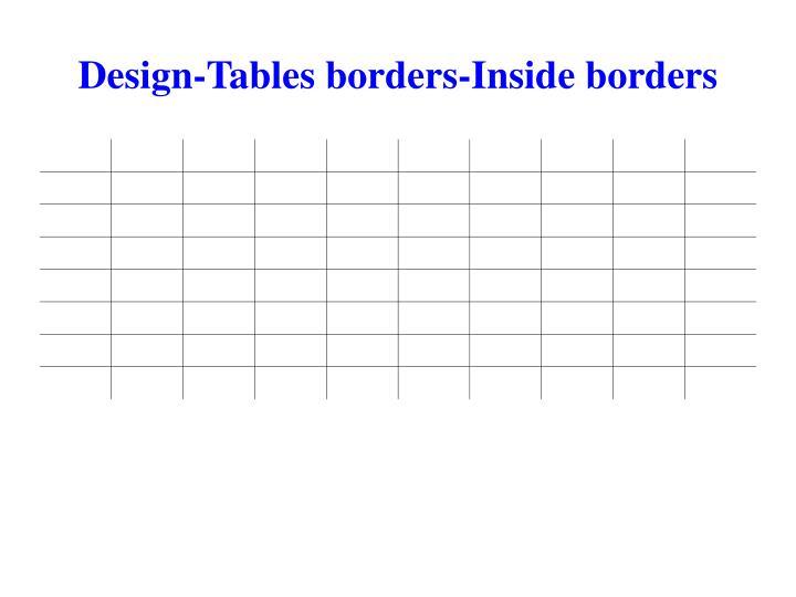 Design-Tables borders-Inside borders