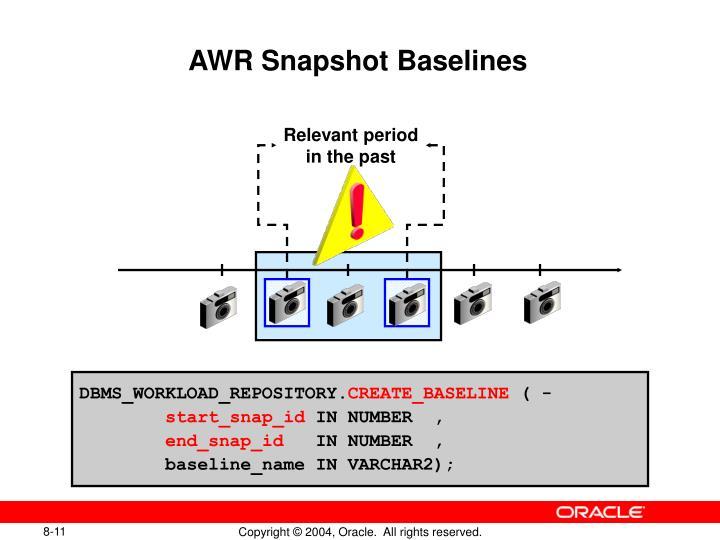 AWR Snapshot Baselines