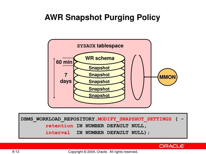 AWR Snapshot Purging Policy
