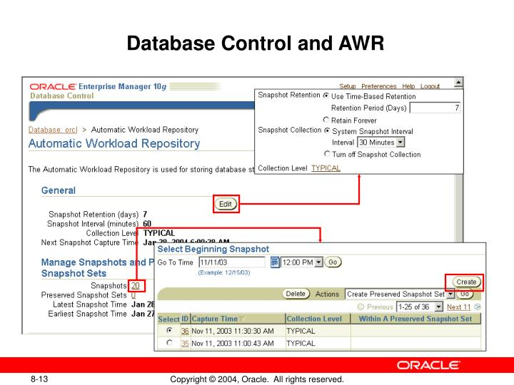 Database Control and AWR