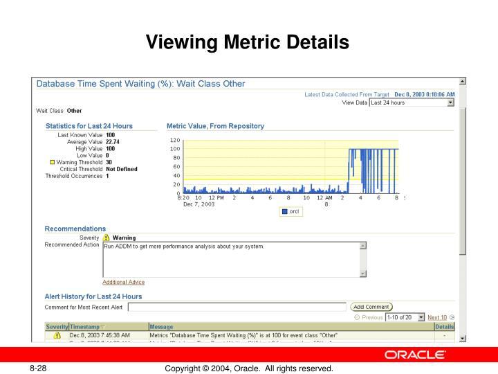 Viewing Metric Details