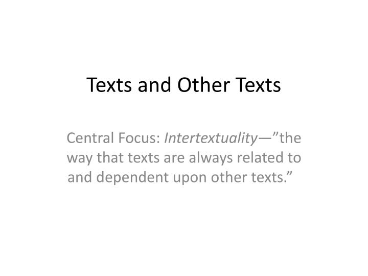 texts and other texts n.