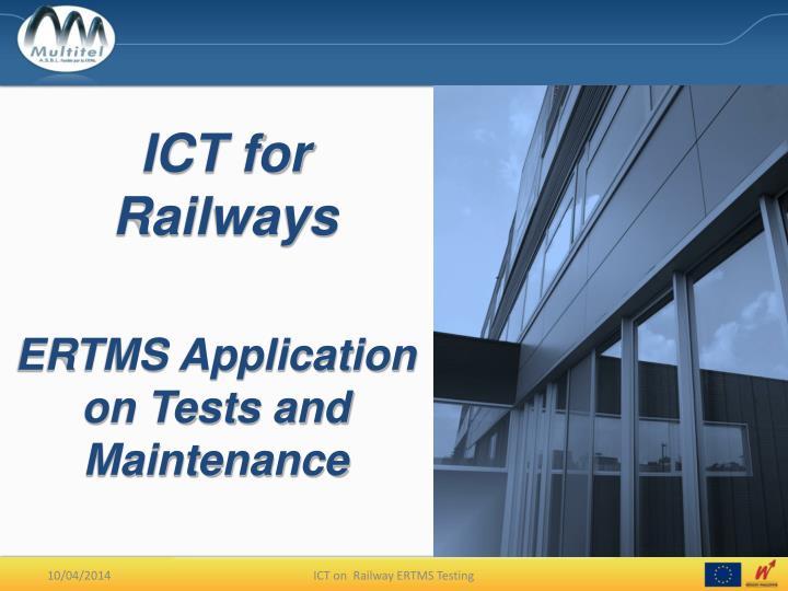 ict for railways n.