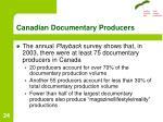 canadian documentary producers