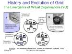 history and evolution of grid the emergence of virtual organisations vo