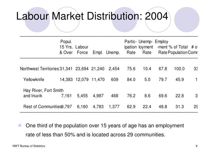 Labour Market Distribution: 2004