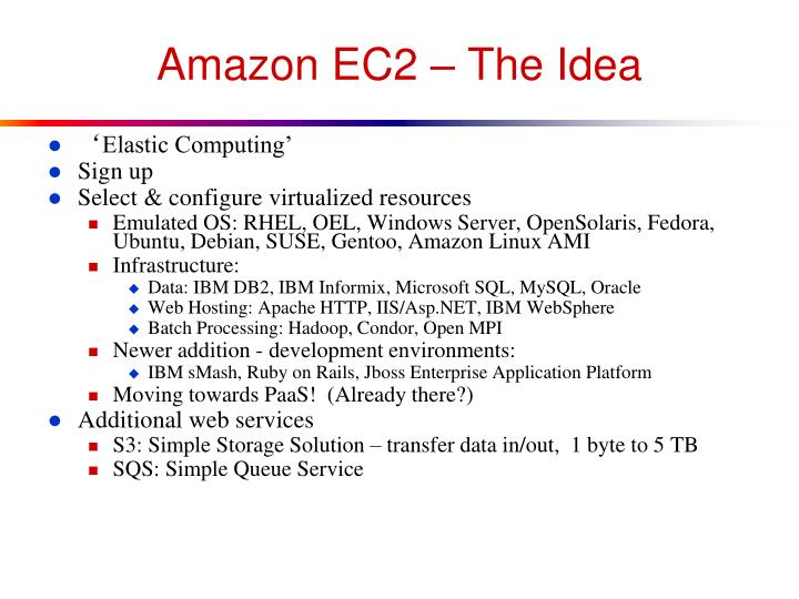 Amazon EC2 – The Idea