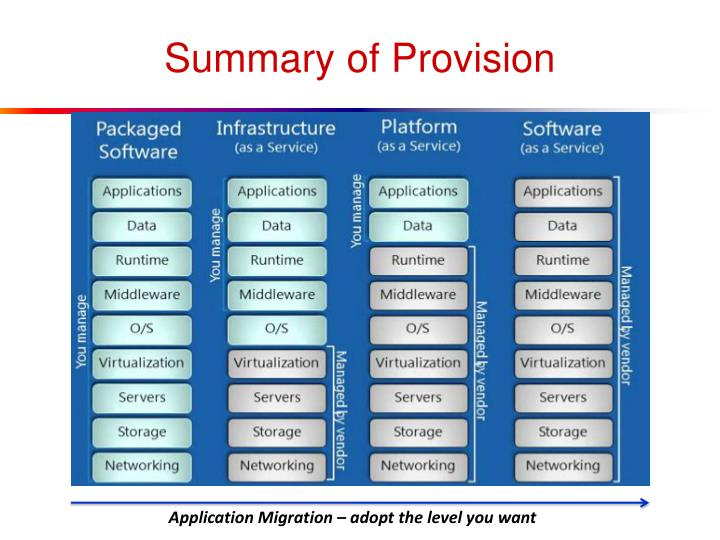 Summary of Provision