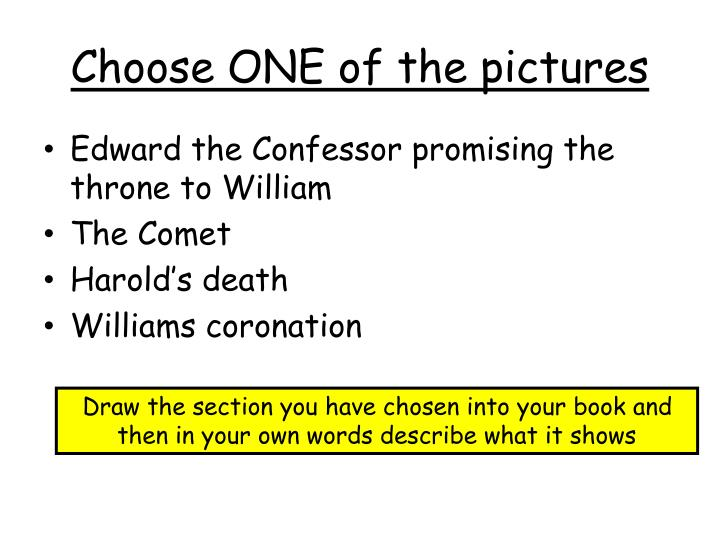 Choose ONE of the pictures
