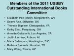 members of the 2011 usbby outstanding international books committee