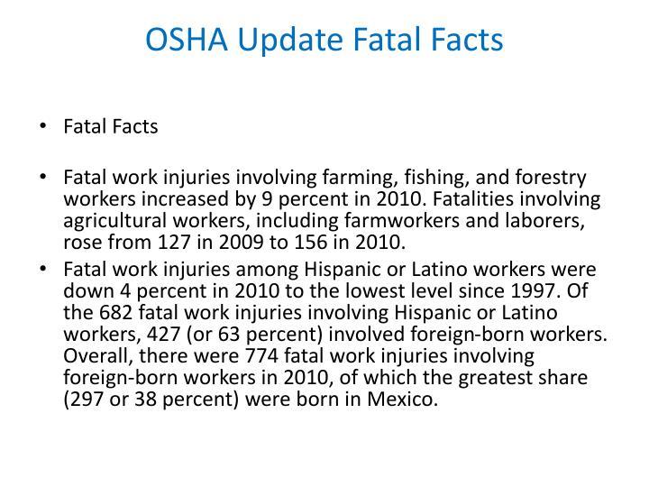 OSHA Update Fatal