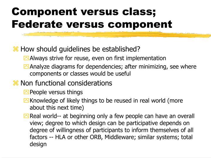 Component versus class;