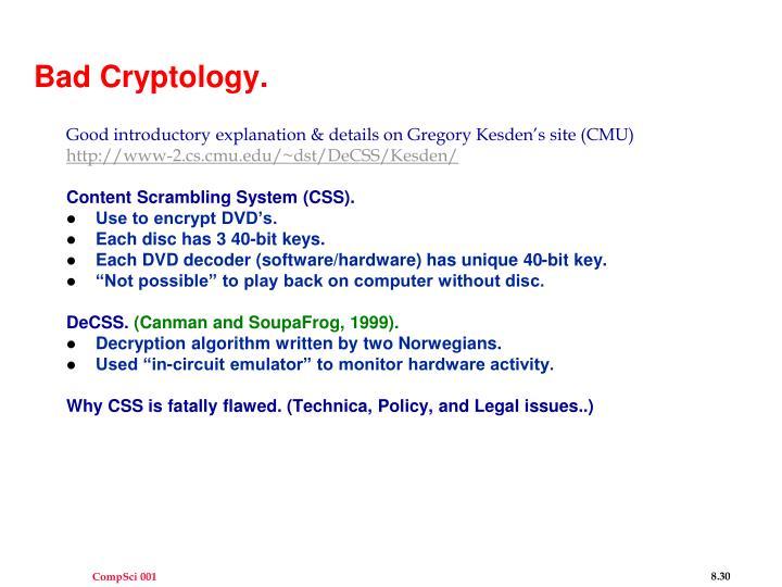 Bad Cryptology.