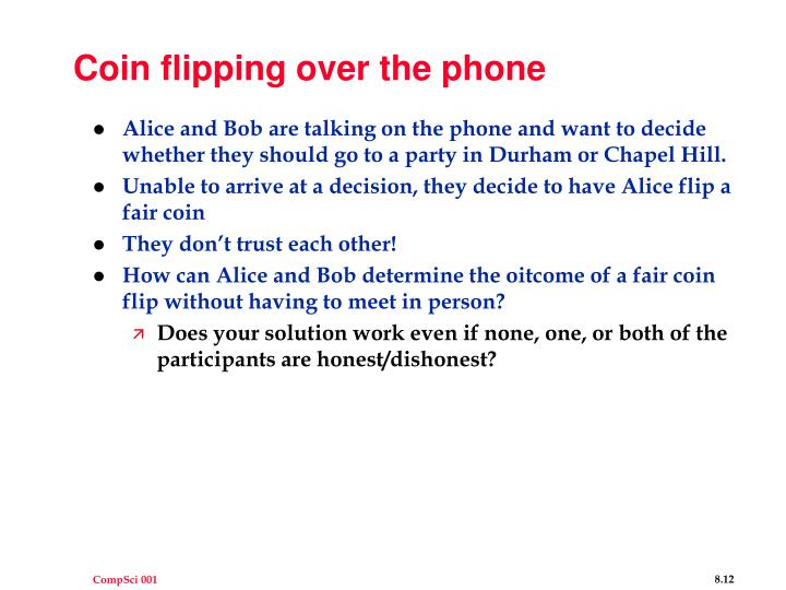 Coin flipping over the phone