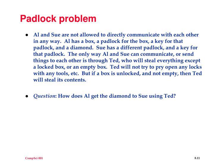 Padlock problem